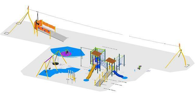 UPGRADE: The community is invited to the opening of an all-abilities playground at Bill Rose Sports Complex. An artists impression of the all-abilities playground.