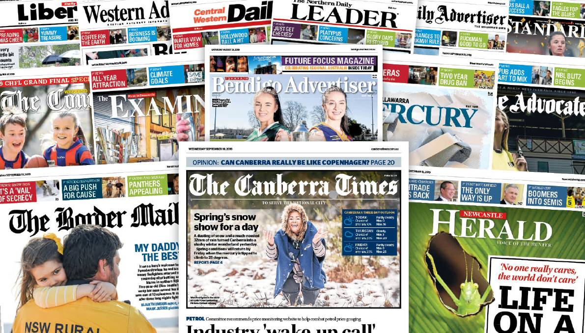 The ACM print and digital network includes 14 daily titles serving Canberra and key regional population centres.
